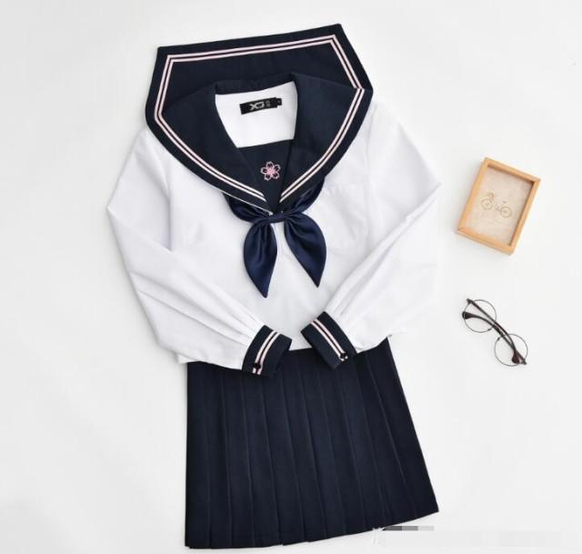 長袖 秋春 JK系 セーラー服 制服 学生 セット ...