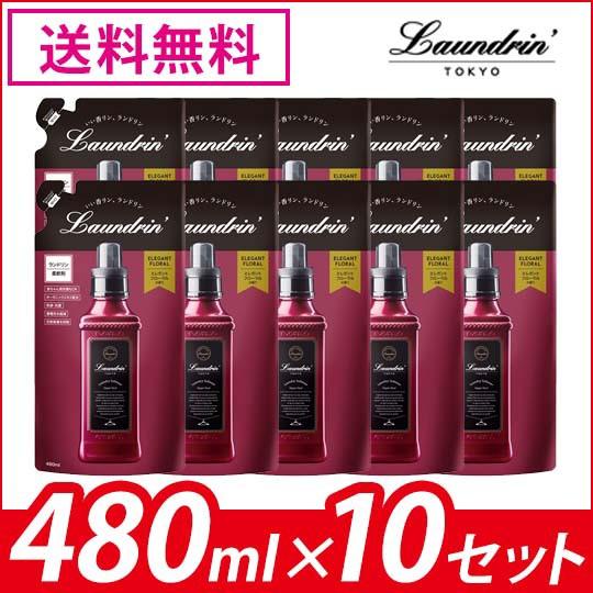 ランドリン 柔軟剤 詰替 エレガントフローラル 48...