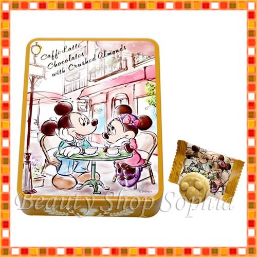 ミッキーマウス ミニーマウス 缶入りカフェラテチ...