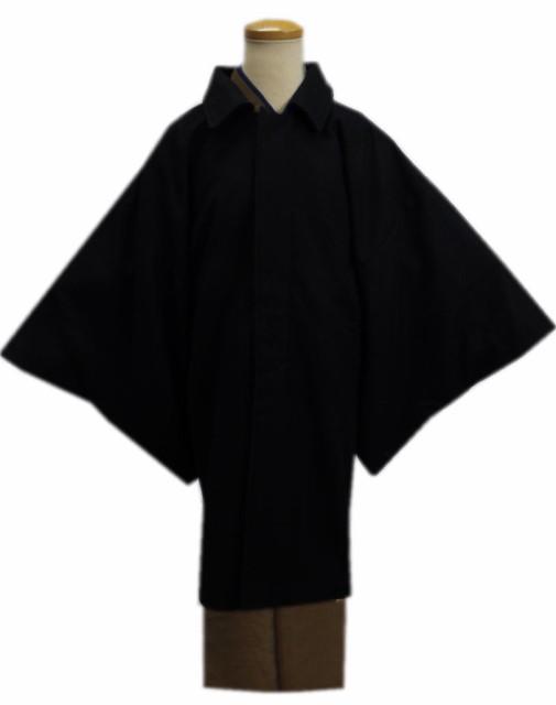 粋なメンズ男物男性ウール混角袖コート黒色M・L...