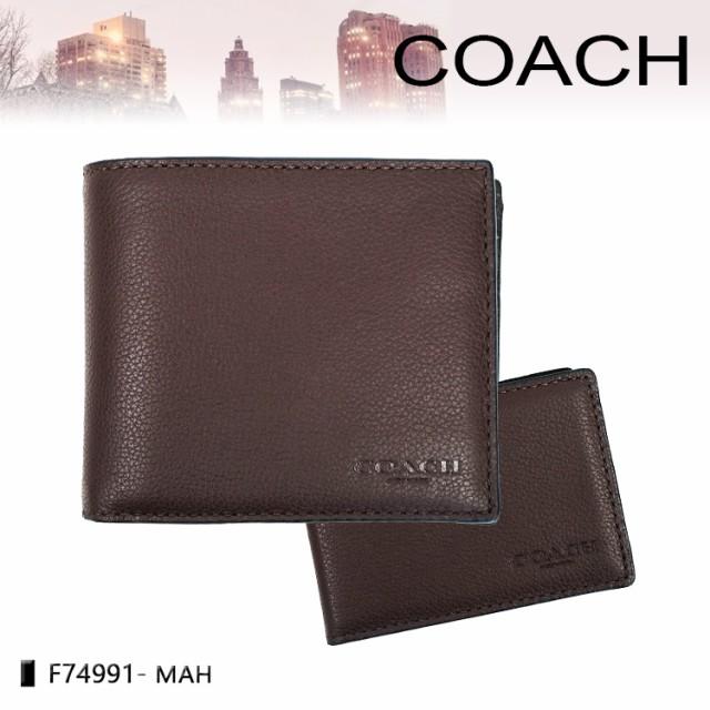 コーチ 財布 COACH 男性用 ダブル型二つ折り財布 ...