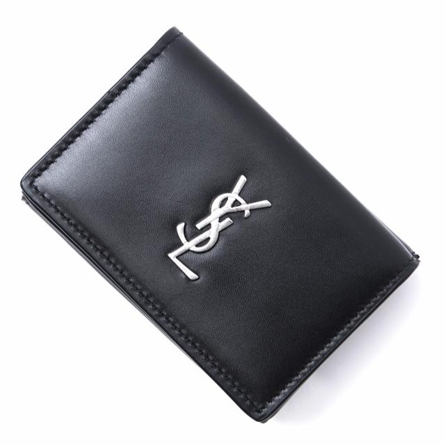 [あす着] サンローランパリ SAINT LAURENT PARIS 3つ折り 財布 小銭入れ付き メンズ
