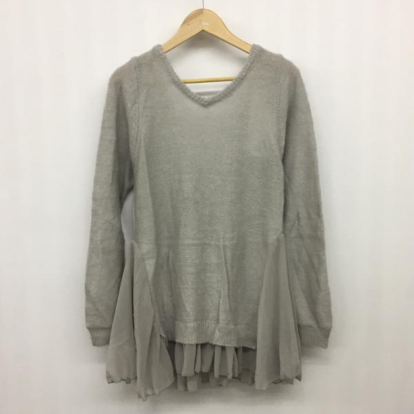 ミコアメリ ニットワンピース 2F0927031 灰色 / ...