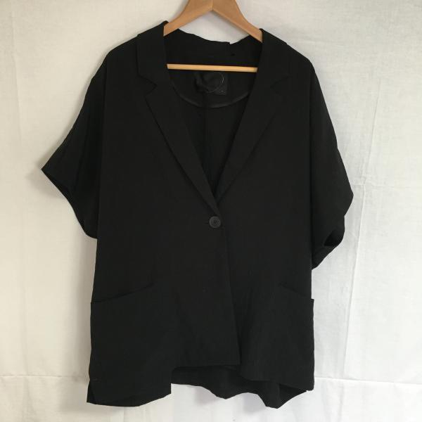 ジーナシス 薄手ジャケット A1754 黒 / ブラック ...