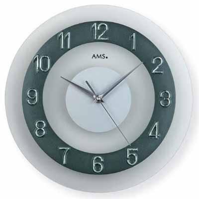 [ドイツ製][AMS][アームス]掛け時計(壁掛時計)円...
