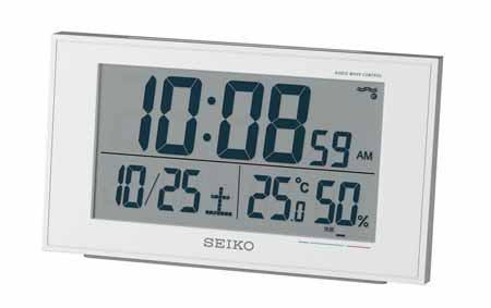 SEIKO セイコークロック電波目覚まし時計 電子音...