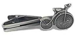 ネクタイピン 旧式自転車 アンティークシルバー...