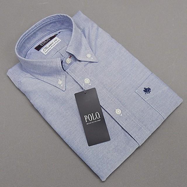 [POLO B.C.S] ボタンダウンシャツ 長袖 ビジ...