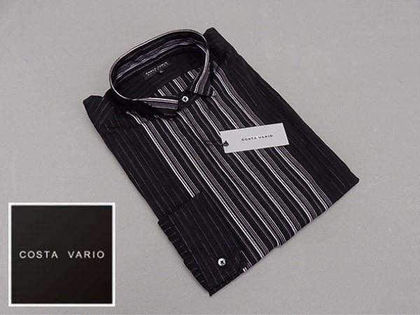 ■ドレスアップシャツ■COSTA VARIO■長袖■黒■...