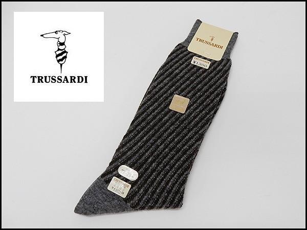 TRUSSARDI/トラサルディ 紳士靴下 ストライプ ...