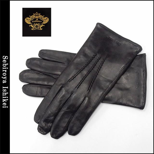 ◆オロビアンコ◆手袋◆羊革 黒 シープスキン ...