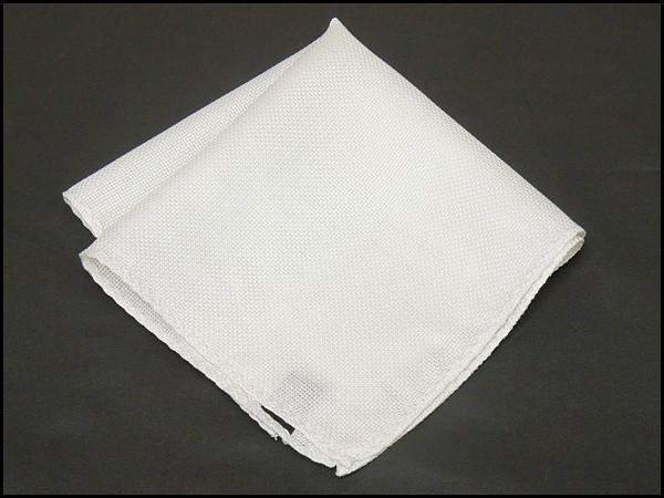◆ポケットチーフ◇白/パールホワイト◇バスケッ...