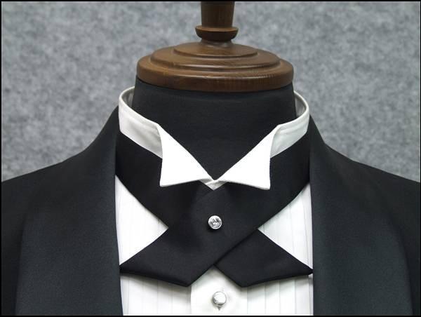 ◆礼装◆クロスタイ◆黒◆シルク スワロフスキー...