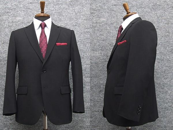 [BB4]のみ 春夏物 スタイリッシュ2釦スーツ 黒...