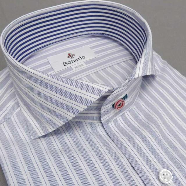 [BONARIO] ワイシャツ スリムフィット ホリゾ...