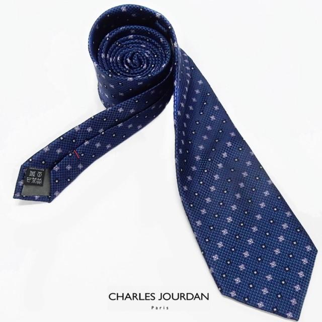 ◇CHARLES JOURDAN◇イタリア製ネクタイ◇紺系◇...