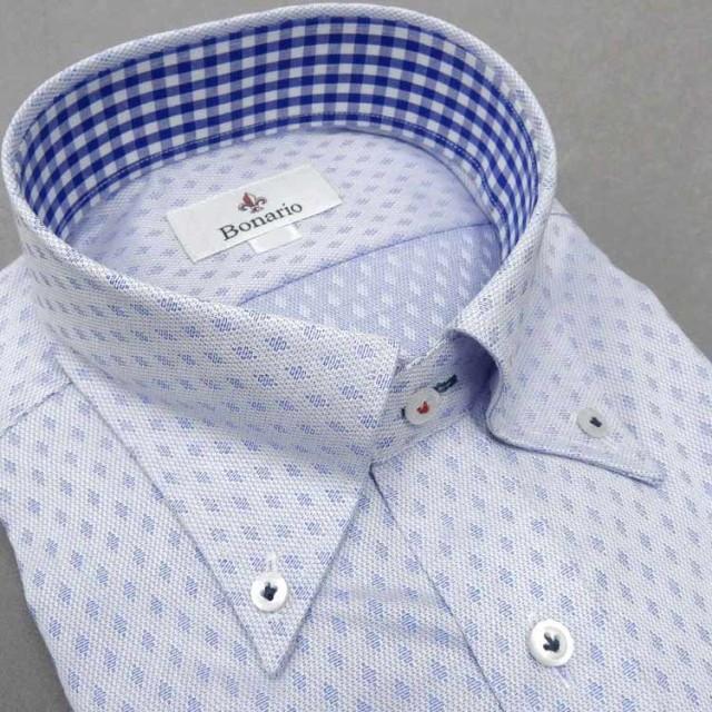[BONARIO] ワイシャツ スリムフィット ボタン...
