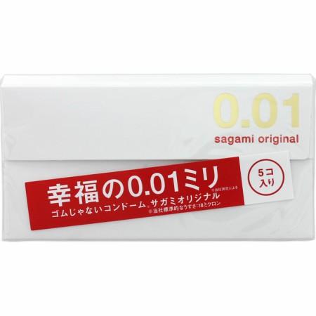 【送料無料】 サガミ オリジナル  0.01mm 5個入 ...