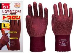 作業手袋 トワロン 151 天然ゴム手袋 日本...