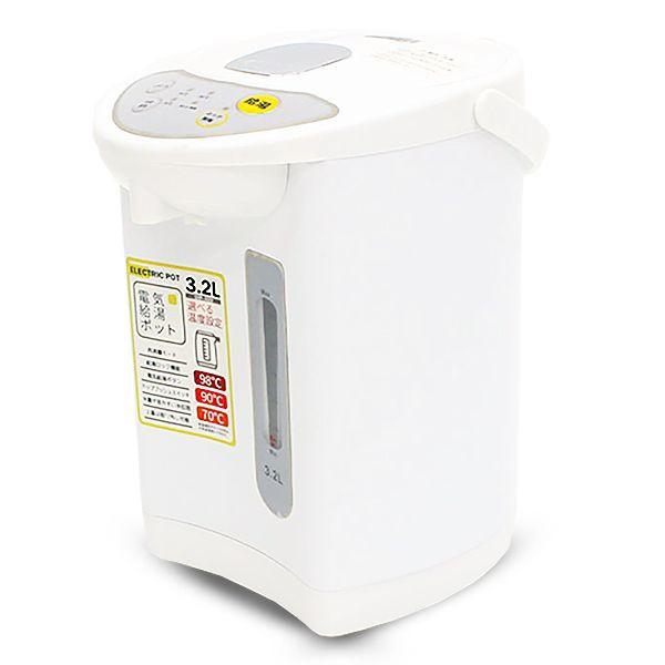 電気ポット 電気給湯ポット 3.2L 再沸騰モード 給...