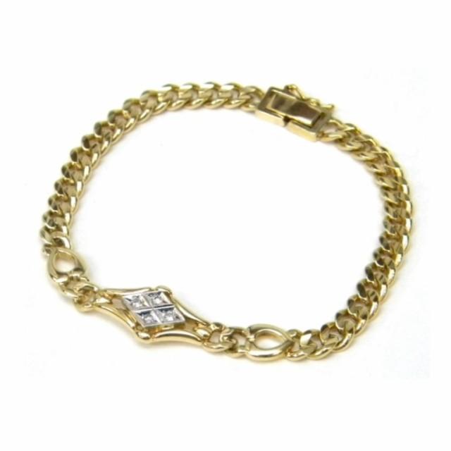 18金 ダイヤモンドデザインブレス 0.08...