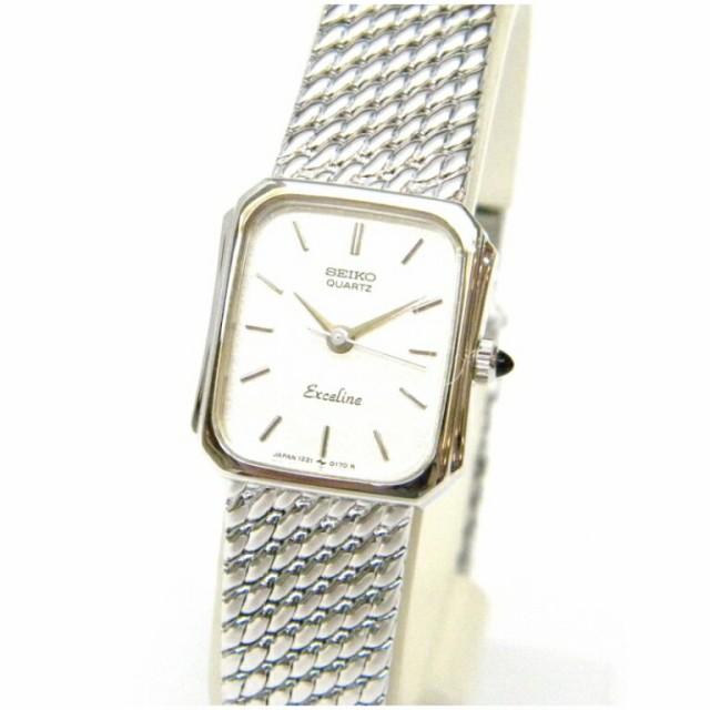 セイコー 腕時計 エクセリーヌ クオーツ SS 1221-...
