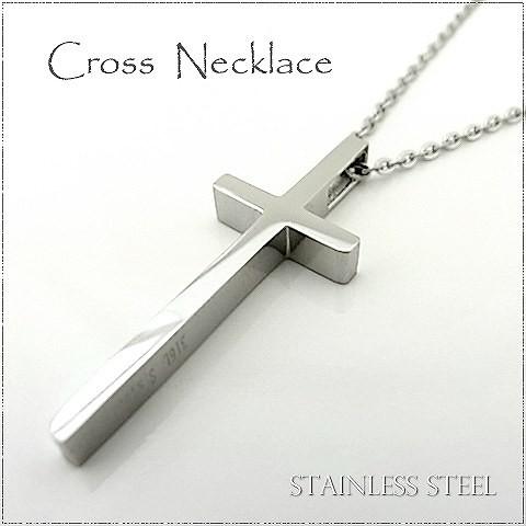 ステンレス ネックレス クロス 十字架 シルバー ...