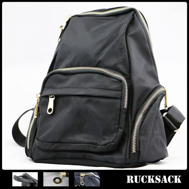 リュック 鞄 リュックサック 黒 ブラック サイド...