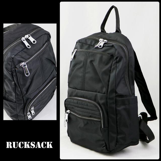 リュック 鞄 リュックサック 黒 ブラック 開きや...