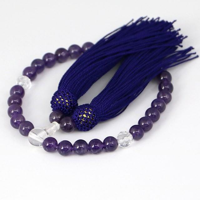 数珠 女性用 紫水晶の数珠 アメジスト(ojyuzu-ame...