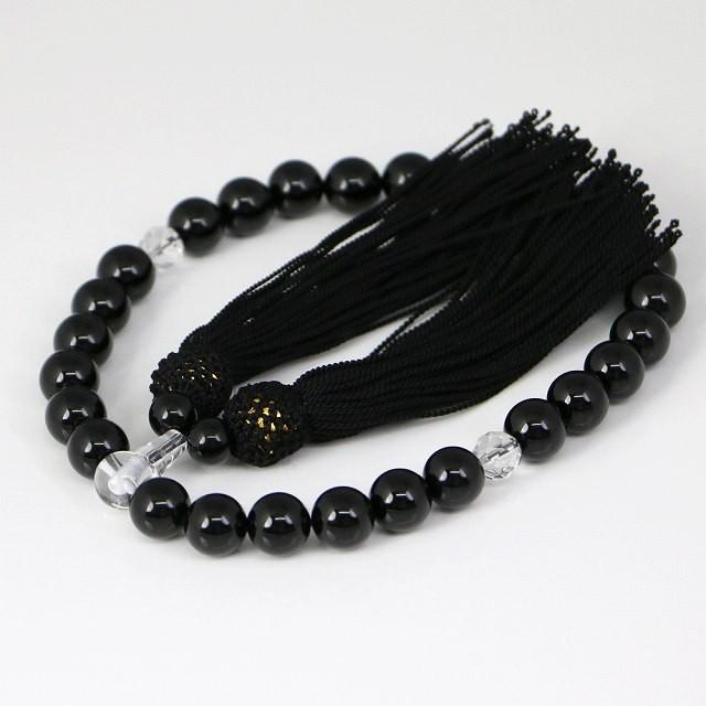 数珠 男女兼用 黒瑪瑙の数珠 オニキス(ojyuzu-ony...