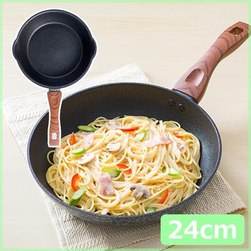 KUKUNA Kitchen メガストーン深型フライパン24c...