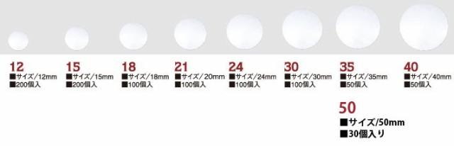 NBK プラスチック製 ツツミボタン くるみボタン ...