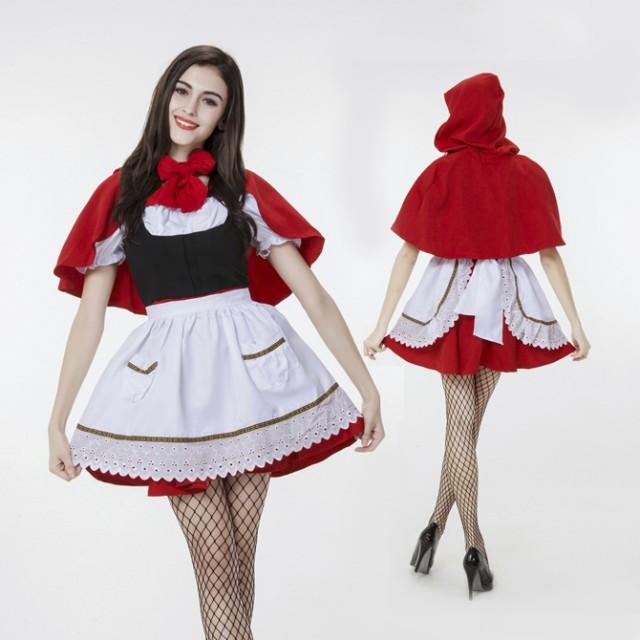 ハロウィン  赤ずきん メイド 童話 コスプレ衣装 ...