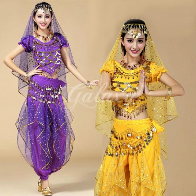 ベリーダンス衣装 インドダンス 6色 セット チョ...