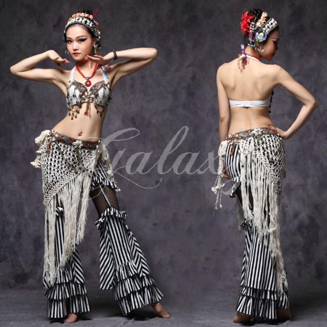 ATS ベリーダンス インドダンス 民族衣装 ホワイ...
