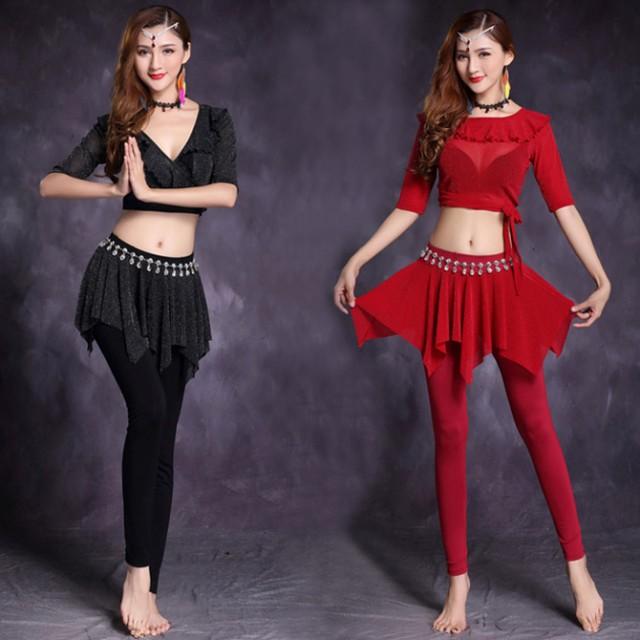 ベリーダンス衣装 インドダンス レッスンウエア 2...