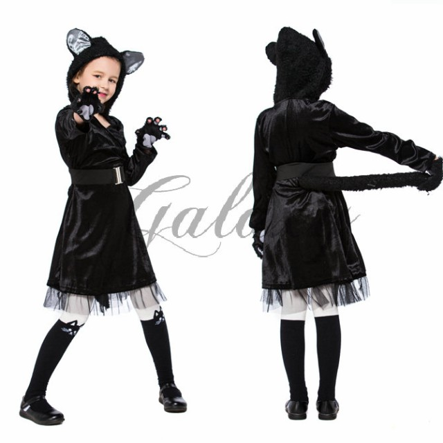 ハロウィン アニマル 黒猫 ワンピース キャッツ ...