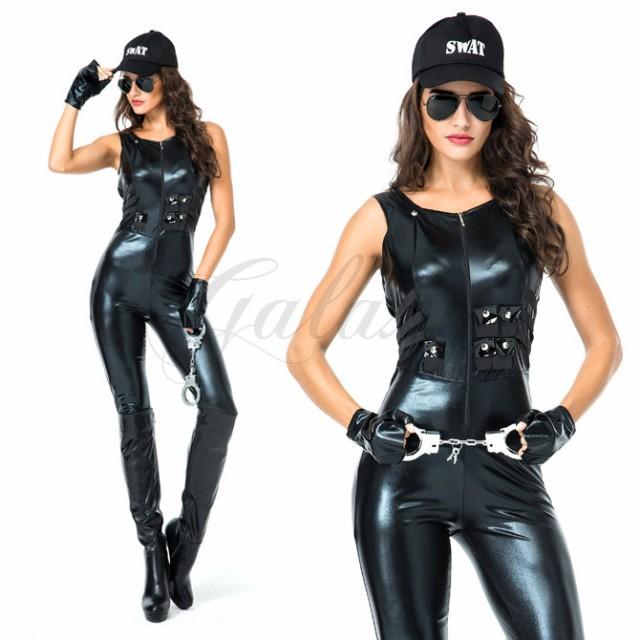 ハロウィン 警察 婦人警官 婦警 ボンテージ ポリ...