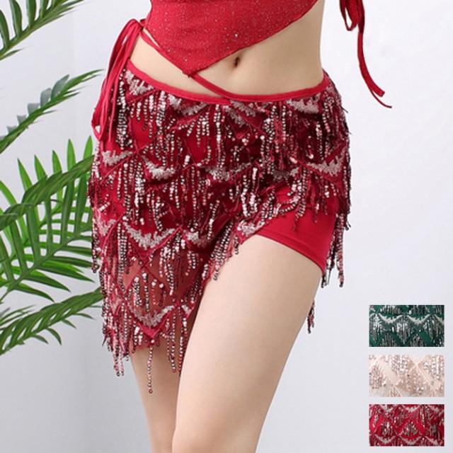 ベリーダンス 社交ダンス 3色 ミニスカート スパ...