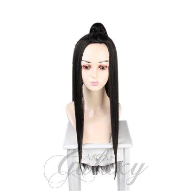 中国古代 男性 中国風 中華風 古風 ブラック ロン...