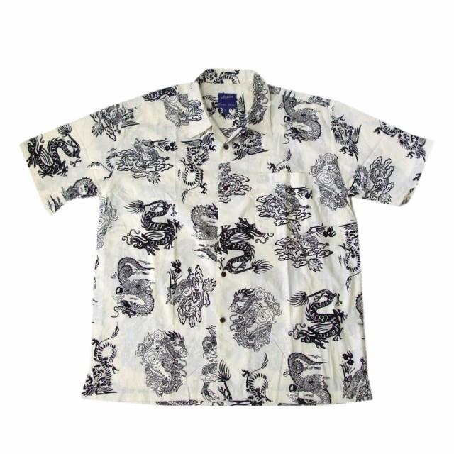 Aloha アロハ「2L」ドラゴンアロハシャツ (半袖 ...