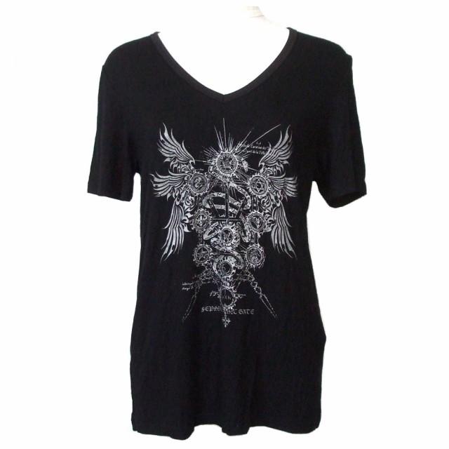 美品 Sixh. シックスエイチ 黒悪魔的Tシャツ (黒...