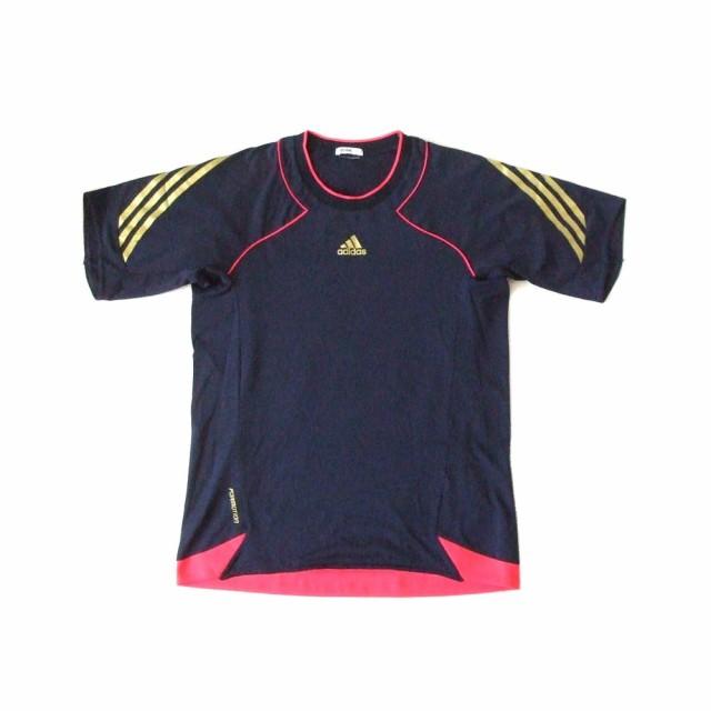 adidas アディダス ストレッチTシャツ (紺 ネイビ...