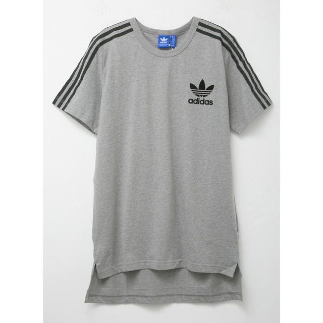 アディダス Tシャツ グレー メンズ ロゴ おしゃれ...
