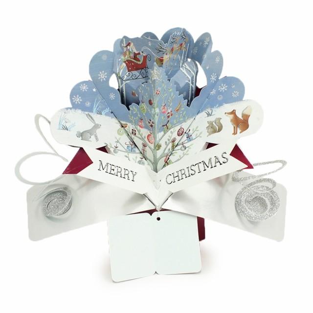 ポップアップカード クリスマス 季節のカード 絵...