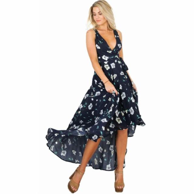 41440fc217ca0 リゾートドレス サマードレス レディース 大きいサイズ ロングワンピース マキシ丈 ノースリーブ エレガント 花柄の