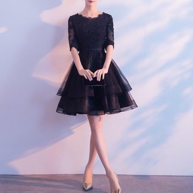 460bb89910237 韓国 パーティードレス シースルードレス フリル ワンピース ドレス レース 大きいサイズ 2L 3L お呼ばれ 結婚式
