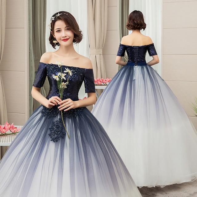 ウェディングドレス 二次会 花嫁 カラードレス 大...