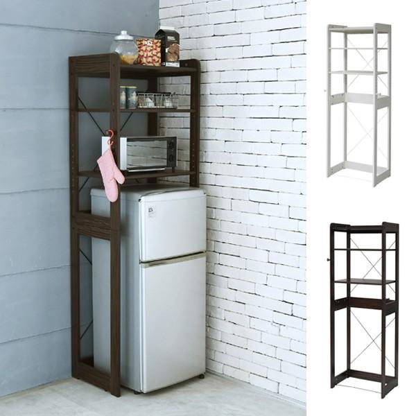 オープンラック 冷蔵庫ラック キッチン収納 木製 幅60cm ( 送料無料 レンジラック 電子レンジラック キッチンラック 一人暮らし 収
